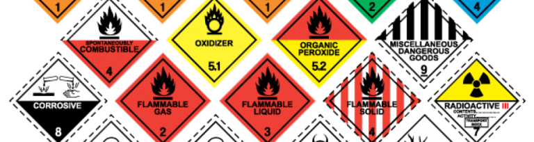dangerous goods labels