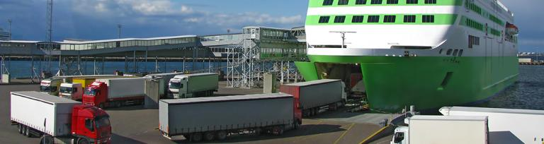 accompanied freight ferry
