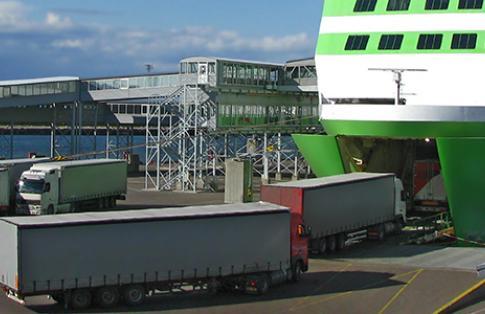 accompanied freight ferry